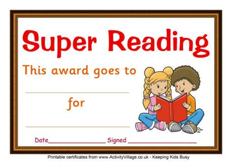 free printable star reader certificates reading certificate super reading