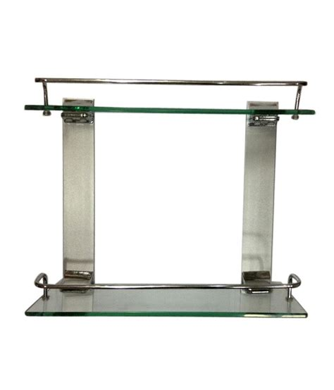 Buy Bathroom Shelves Buy Bath Store Glass Aluminium Shelves At Low Price In India Snapdeal