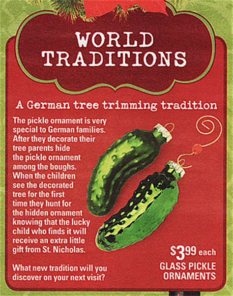 what is the tradition of the tree the german pickle ornament the german way more