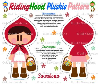 pattern for en español ridinghood plushie pattern color fabric sawabona