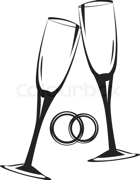 Wedding Glasses Clipart by Chagne Glasses Golden Wedding Celebration Scalable