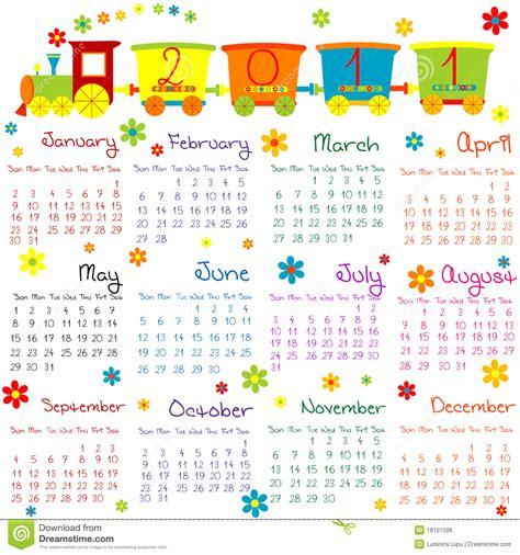 Calendar For Children 2011 Calendar With For Stock Illustration