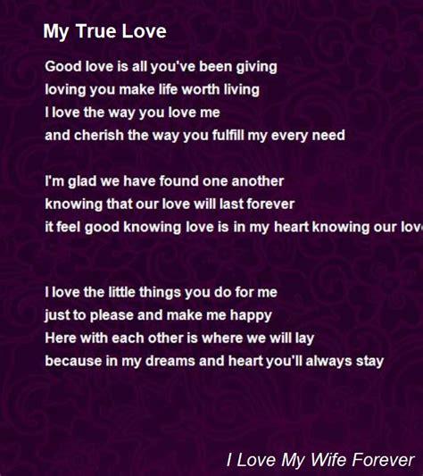 my poem my true poem by i my forever poem