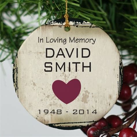 in loving memory ornament memorial christmas ornament