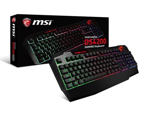msi interceptor ds4200 gaming keybord best deal south