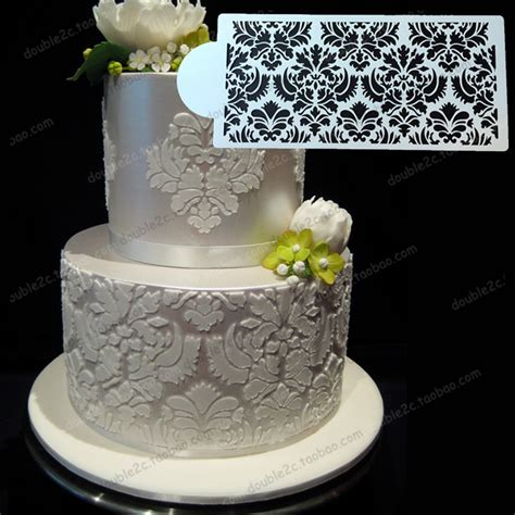 lace templates for cakes aliexpress buy wedding cake stencil 12 6 quot x6 1 quot 32x15