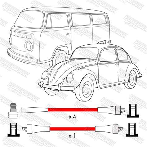 Kabel Kloning Transfer Program Ht vw luftgek 252 hlt 1100cc to 1600cc performance doppel silikon 8mm rot ht kabel ebay