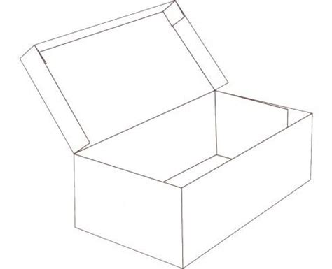 Lidded Box Template by Hinged Lid Shoe Box Shape Free Box Templates To