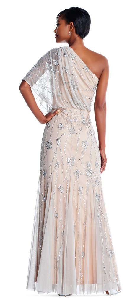 one shoulder beaded gown one shoulder beaded gown papell