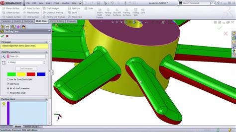 tutorial solidworks plastics complex mold split using solidworks doovi