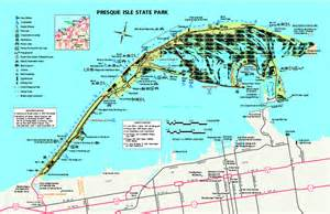 Presque Isle State Park Map by Presque Isle State Park Map Erie Pa 16505 2042 Mappery