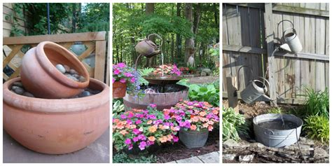backyard water feature diy flower design city garden ideas tiered with waterfall and