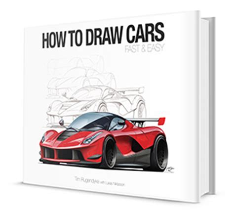 how to draw paint cars books how to draw a car fast easy with tim rugendyke