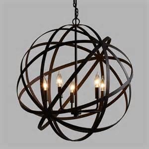 metal chandeliers large metal orb chandelier world market