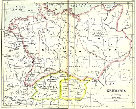 maps germania map of ancient germania images