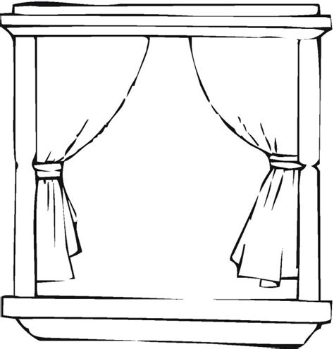 coloring page for window window colouring pages for kids