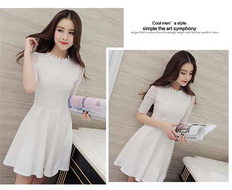 Dress Putih dress renda putih import 2016 jual model