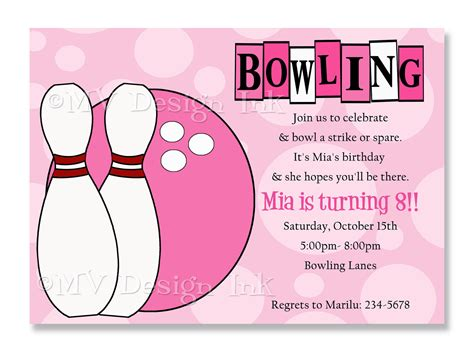 bowling birthday invitation templates bowling invitations templates ideas bowling