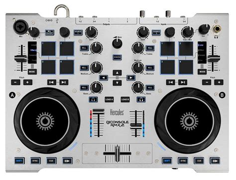 hercules rmx dj console hercules djconsole rmx2 2 deck 4 ch dj controller pssl