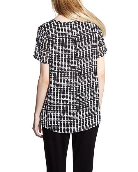 Printed Sleeve Blouse printed sleeve blouse reitmans