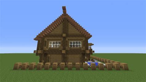 modern wooden cabin minecraft project
