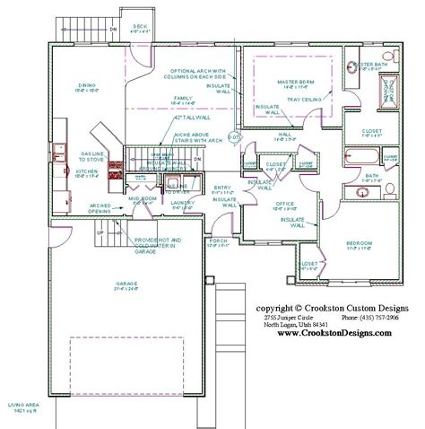 main floor plans crookston designs plan 10063 00
