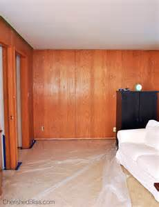 Can You Paint Wood Paneling how to paint wood paneling cherished bliss