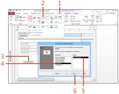 untuk membuat query menggunakan tombol cara membuat tombol command di access 2013