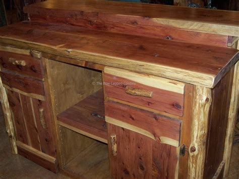 rustic wood cedar furniture tables chairs home decor