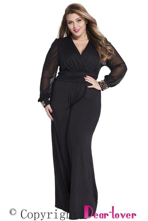 Sleeve Jumpsuit club black embellished cuffs mesh sleeves jumpsuit