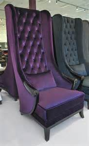 high back wing chair duchess purple