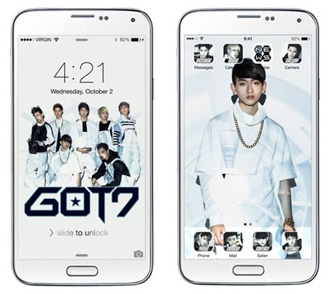 theme line got7 exclusive download got7 mobile theme win autographed