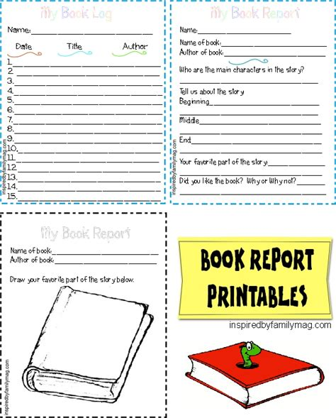 free printable book report