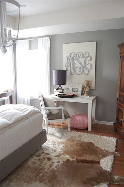 the nester amazing bedroom with gray walls paint color west elm parsons desk in glossy white
