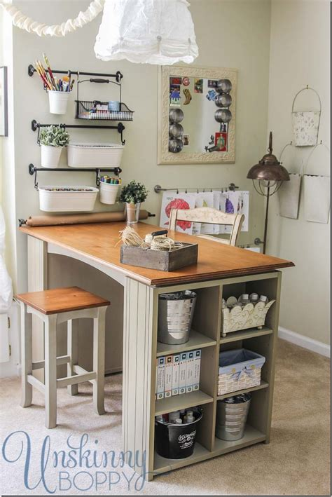 Small Craft Desk Updating And Organizing The Craft Room Unskinny Boppy