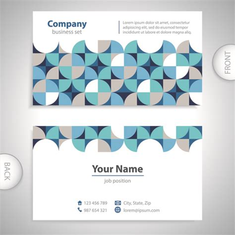 business card back template excellent business cards front back template vector 04