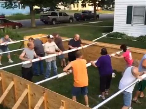 human foosball table see the game that s all the rage in