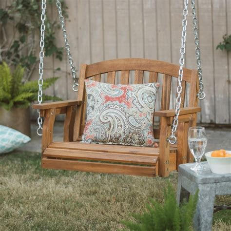 single porch swing chair wooden garden swing single porch hanging chair outdoor