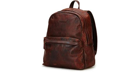 rugged leather backpack frye rugged leather backpack in brown for lyst