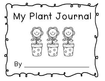 printable plant observation journal my plant journal by beachgirl teachers pay teachers