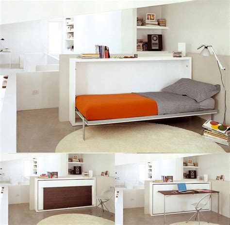 transforming furniture bed to study desk interior design