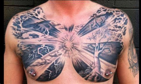 pictures of tattoos for men chest tattoos for chest tattoos for designs and
