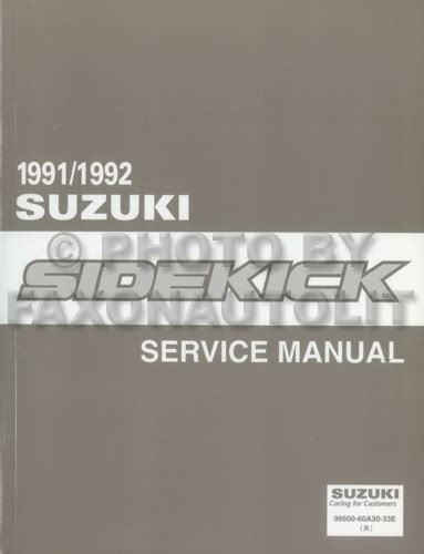 automotive repair manual 1992 suzuki samurai user handbook 1991 suzuki sidekick 2 door air conditioner installation manual original