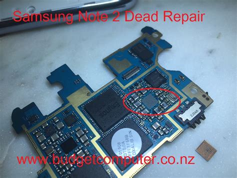 samsung note 2 dead repair power ic budget computer