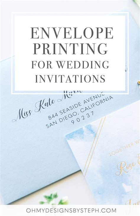 Wedding Invitation Envelope Printing