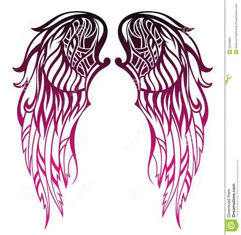dise 241 o del tatuaje de las alas foto de archivo libre de