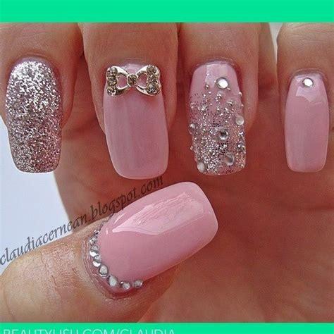 imagenes de uñas acrilicas rosa pastel u 241 as perfectamente decoradas con esmalte rosa pastel