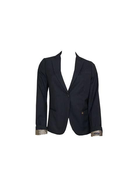 Blazer Machiato Navy Fit L Dl maison scotch midlength blazer combo z