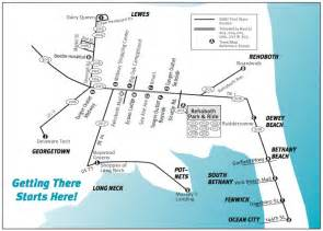 Dart Route Map by Rehoboth Beach Delaware Public Transportation