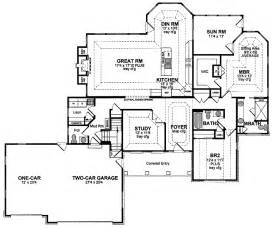 1 story house plans 1 story ranch style houses one story ranch house floor